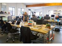 Want to be more productive for £175pm? Fixed desk available in a London Fields industrial Loft