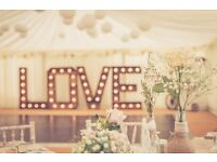 £180 BRISTOL HIRE: 5ft RUSTIC VINTAGE timber illuminated marquee LOVE led letters/sign for weddings!