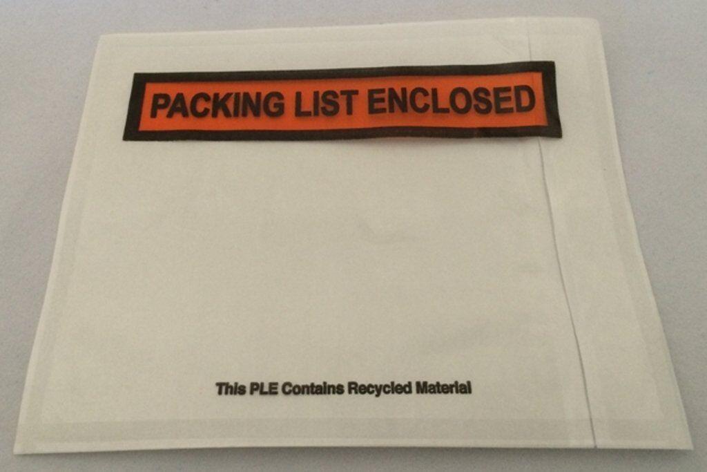 """500pcs 4.5""""x5.5"""" Pouches Invoice Shipping label Envelopes/ P"""