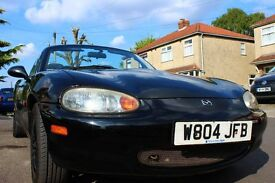 Get ready for SUMMER! Mk2 MX5 Convertible, 1.6 Manual, 72k miles, 12 months MOT, new roof