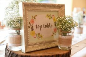 Wedding items/gifts : shabby chic rustic jars, candles, crates etc available individually or job lot