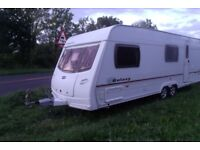 lunar galaxy 6 berth 2005 fitted bunk beds twin axle awning caravan