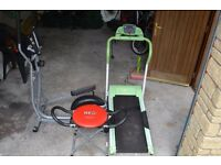 GYM EQUIPMENT (TREADMILL, CROSS TRAINER ABB TONER) ONE LOT 70 POUND ONLY