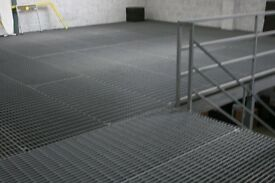 Heavy Duty warehouse mezzanine floor with ' Flowdeck' steel sheeting 105 sq. mts.