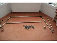 Brass curtain track suitable for bay window