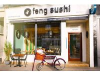 Feng Sushi is recruiting! We're looking for fryer chefs, sushi chefs, head chefs. Start immediately!