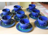 Blue Imperial Denby Cups and Saucers