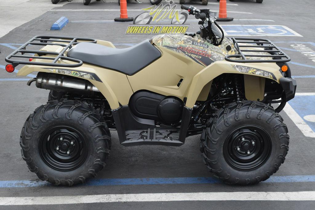 2021 Yamaha Kodiak 450 Fall Beige with Realtree Edge