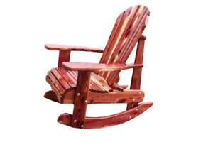 Heavy duty aromatic red cedar patio deck porch chairs - Free Shipping