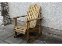 Adirondack garden chair Garden rocking chairs seat furniture set bench Summer Loughview Joinery
