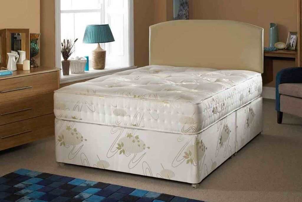 Brand New Double 4ft 6&Divan Bed with orthopaedic