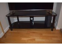 "Black Glass TV Stand For up to 44"" TVs"