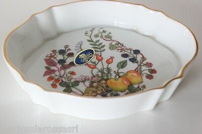 AYNSLEY  PIATTINO VINTAGE IN PORCELLANA BONE CHINA DECORO SOMERSET - CIOTOLA