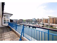 Great 3 bed 3 bath penthouse with study, Fleet House, Limehouse, E14, East London, parking, c