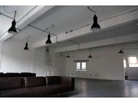 Hackney Creative Studiospace, fantastic location, high ceilings, kitchen/meeting room 1250 sq ft