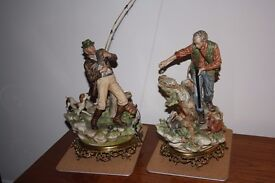 Pair of Capodimonte Figures -' The Fisherman' & 'The Hunter'