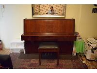 ROSEWOOD UPRIGHT ACOUSTIC PIANO WITH 88 KEYS AND THREE PEDALS