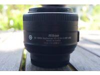 Nikon 35mm 1.8 Prime Lens