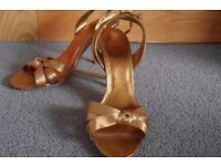 Gold Zara Sandals