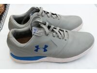 UNDER ARMOUR GREY LEATHER LIKE NEW GOLF SHOES SIZE 9.5 UK