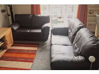 2-seater & 3-seater Dark Brown Chocolate Sofa Suite