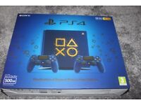 PLAYSTATION 4 PS4 DAYS OF PLAY LIMITED EDITION 500GB BLUE - NEW AND SEALED