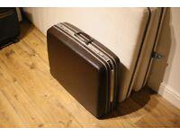 Suitcase - vintage 1970's? brown/chrome Samsonite hard case