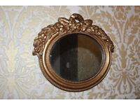 Vintage style resin gilt wall mirror