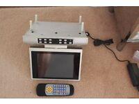 under cabinet television ,tv for under cabinet or unit, for kitchen or bedroom.