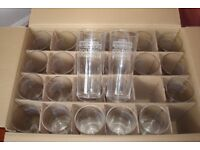 BRAND NEW BOX OF 24 GLASSES FOR ONLY £8