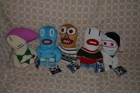 """Vauxhall Corsa C'Mon Complete Set 11""""Plush Toys. Set of 5 with Tags"""