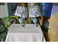 TWO CERAMIC TABLE LAMPS