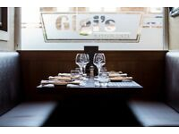 Host / Receptionist required for out of town Italian Restaurant