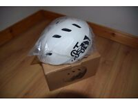 Helmet, bike, skate, skateboard.