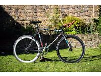 Single Speed AERO Fixie bicycle bike fixed gear racing 57cm frame for 6 ft with loads of extras