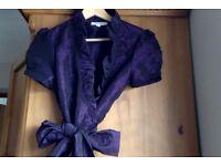 Calvin Klein Wrap Around Top - Purple, Size Small