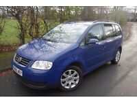 2005 Volkswagen Touran 2.0 FSI, Petrol, 5 SEATER, SAT NAV, ALLOY WHEELS, A/C, 2 KEYS, like c max,-