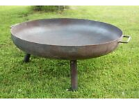 Fire bowl, 80cm diameter; never used