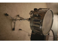Vintage Pearl World Series Snare Drum with Free Floating System + Snare Stand