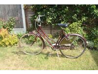 """Rayleigh -lADIES Cameo 26"""" wheel bicycle 3 speed sturmer archer gears in good working order."""