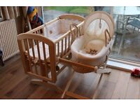 John Lewis crib and Moses basket in as new condition