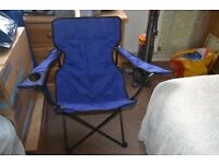 Two Blue Camping Chairs