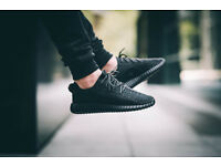 BRAND NEW BOXED – MENS YEEZY SUPLY 350 BOOST PIRATE BLACK WHITE RUNNING TRAINERS – UK SIZE 8, 9, 9.5