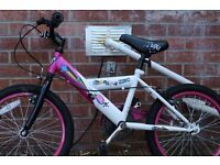 Girls Pink & White Bike