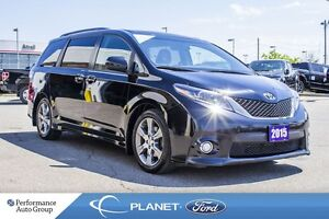 2015 Toyota Sienna SE 8-PASS|HTD SEATS|PWR SEATS|BLUETOOTH|ALLOY