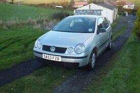 VW POLO 1.4 TDI 2003 3 DOOR SILVER