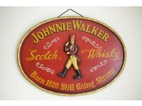 Handmade 3D wooden sign Johnnie Walker