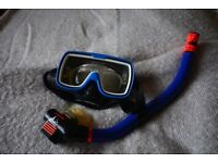 Prescription diving mask and snorkel