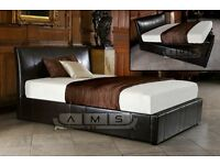 BRAND NEW Double Leather Ottoman Storage Bed Frame from £119 Memory Foam Orthopaedic Mattress