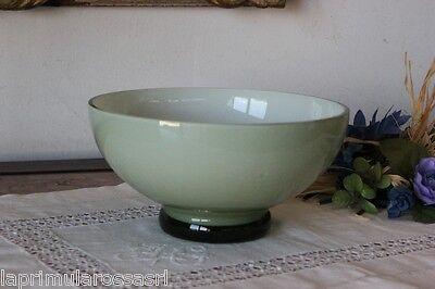 CIOTOLA IN VETRO OPALINE VERDE ANNI 70 MODERNARIATO - GREEN VINTAGE GLASS BOWL